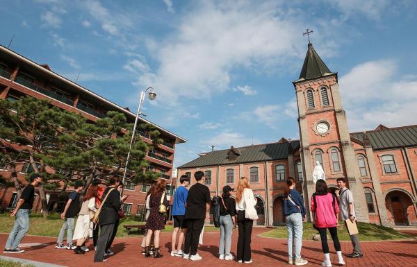 대구가톨릭대 유스티노 신학교에서 뿌리 탐방 프로그램 사진